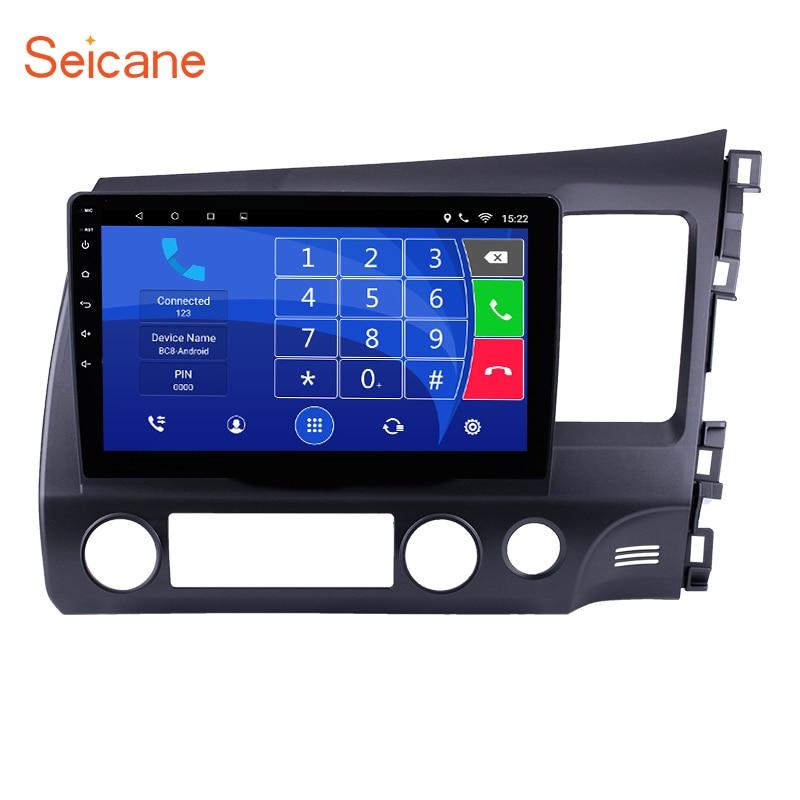 Seicane 8,1 дюймов Android 10,1 сенсорный экран 2 din автомобиля Радио Bluetooth gps навигация для 2011-2006 HONDA CIVIC правая рука вождения