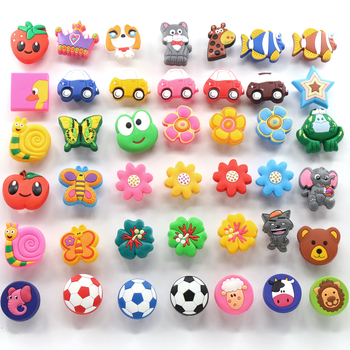 1x Decorative Drawers Pulls / Dresser Knobs / Chest Knobs for Kids and Nursery Rooms Safe Rubber material
