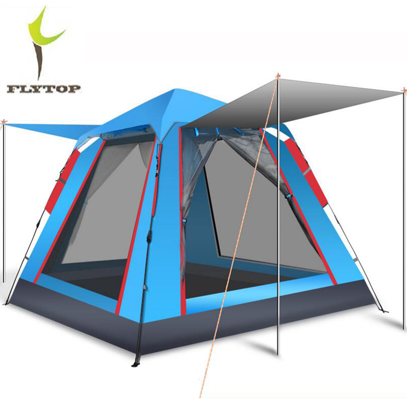 4 Person Large Camping Tent Waterproof Portable Outdoor Party Tents Camping Family Automatic Tent For Tourism Picnic in Tents from Sports Entertainment