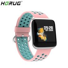 HORUG 女性スポーツスマート腕時計防水スマートブレスレット歩数計フィットネストラッカー心拍数レディース腕時計時計アンドロイド Ios 用