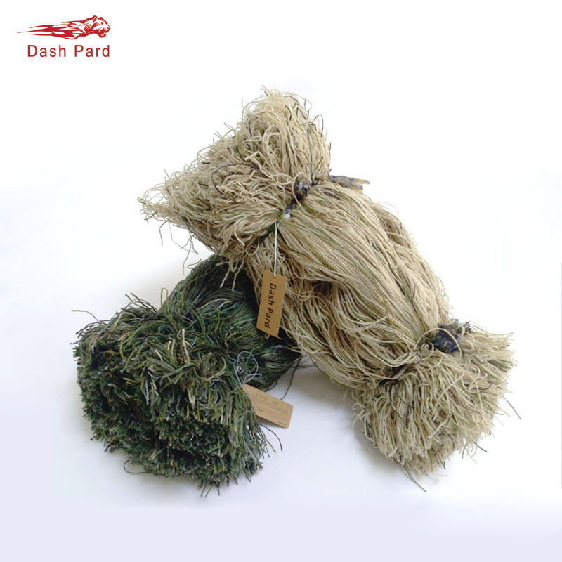 Weight 2 pounds Grass style Ghillie Suit Thread Synthetic Burlap Yarns DIY Mossy Blend Hunting camouflage