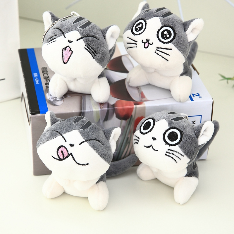 Janpan Cat Anime Chi's Sweet Home 10cm Keychain Toys Plush Cat Stuffed Animal Small Pendant Dolls Gift Plush Toys