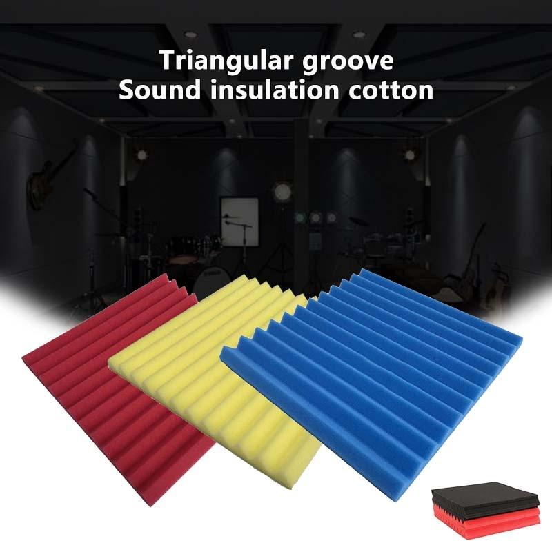 300*300*25mm Soundproofing Foam Acoustic Foam Sound Treatment Studio Room Effective Absorption Wedge Tiles Foam Good Materials