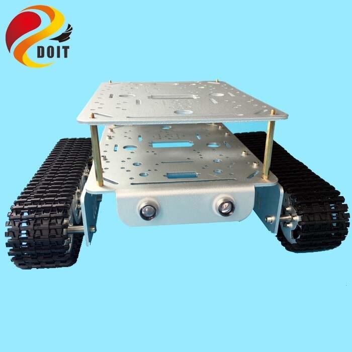 Réservoir à deux étages Original DT200 Robot voiture châssis ESPduino Kit de contrôle pour Arduino WiFi UNO R3 bricolage RC jouet
