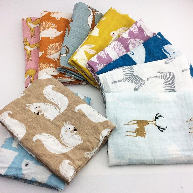 Nuevas mantas de algodón para bebés, Manta de algodón orgánico suave para recién nacidos, manta de muselina para bebé, envoltura de Manta para alimentar con eructos, paño, bufanda, material para bebés