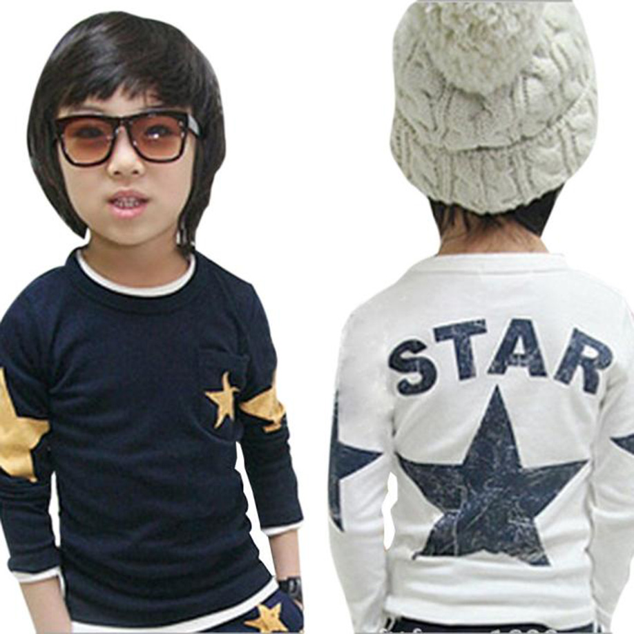 MUQGEW Infant Toddler Kids Baby Boy Clothes Long Sleeve Costume Star Print T-shirt Tops Clothes CN US