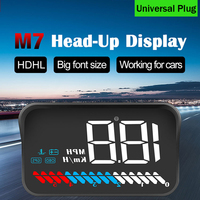 HUD Car Display with OBD cable USB cable Car Head up display Windshield Speed Projector Security Alarm Overspeed RPM Voltage