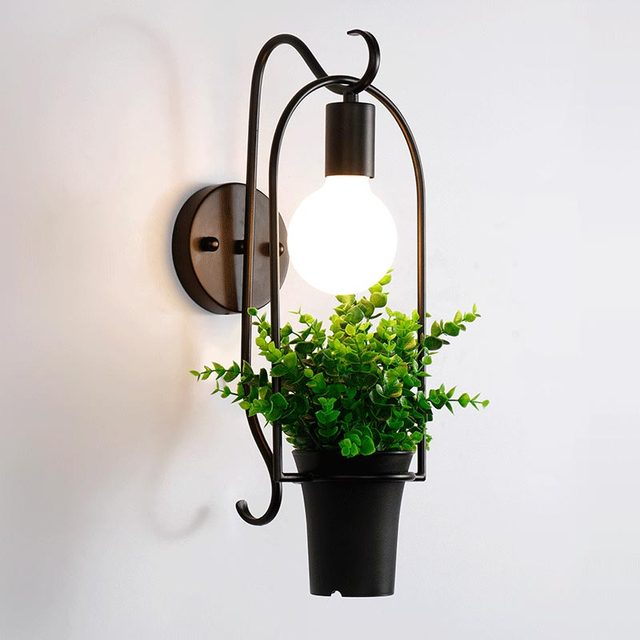 Modern Wall Lamp Plant Decor Wall Sconces Bedroom Restaurant Light  Luminaire Home Lighting BLW6011