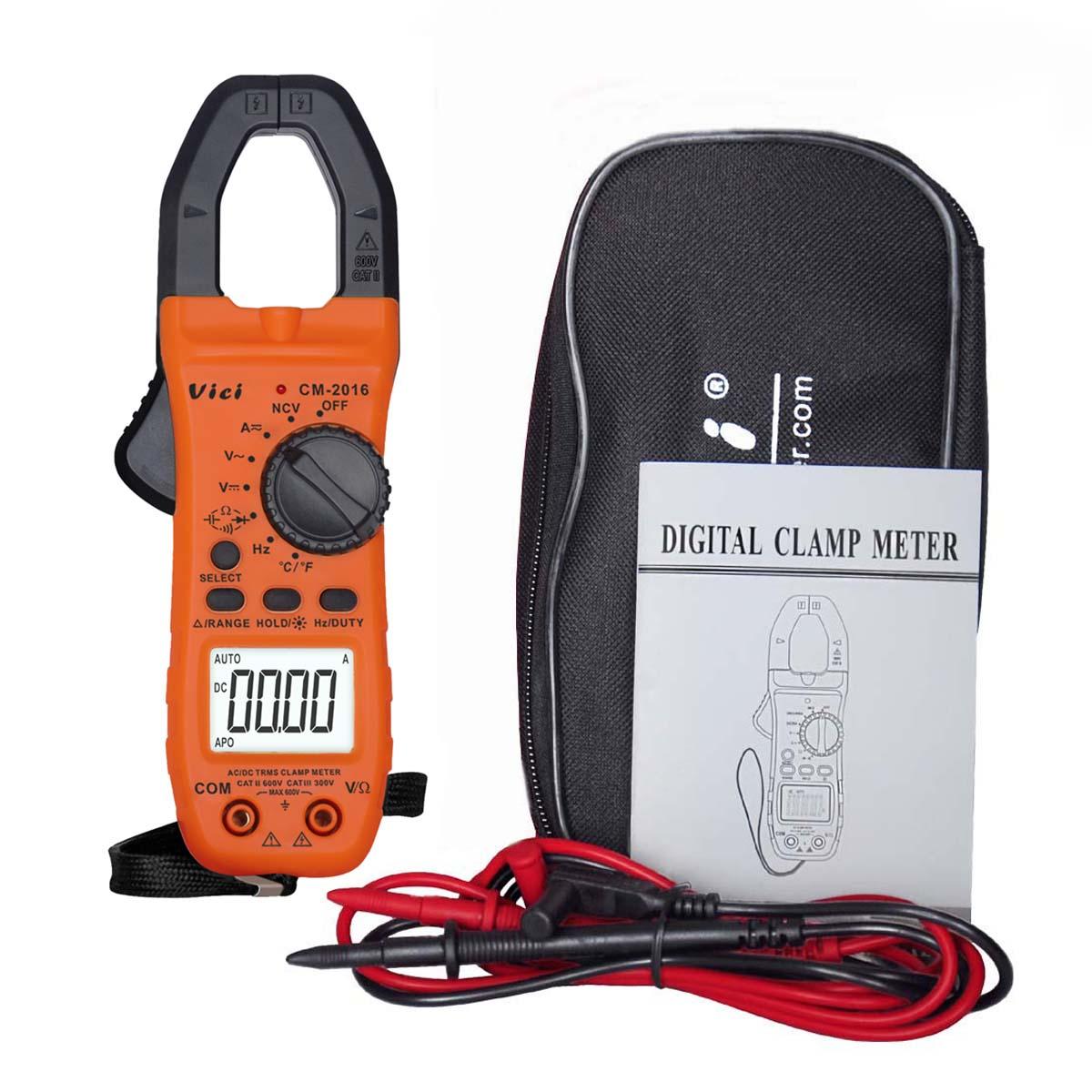 M115 VICI 5999 Digital Clamp Meter Multimeter Tester CM2016 NCV TRMS DCV ACV ACA C R F T victor vc9808 3 1 2 digital multimeter dcv acv dca r c l f