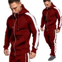 Zogaa Men Joggers Tracksuit Two Piece Hoodies+ Sweatpants Set Casual Zipper Outwear Sweat Suit 2 Piece Men Outfit Matching Set