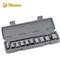 10 PCS Socket Wrench Set Hex Wrench L Type Adjustable Torque Ratchet Pipe Wrench Auto Bicycle Repair Tools Kit Hand Tool Set Wrench    -