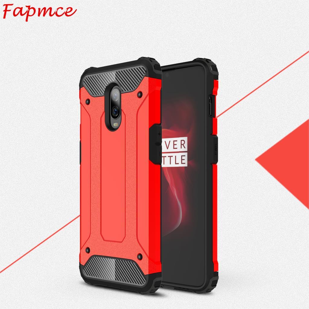 OnePlus 6 t Cas 6.41 pouce fundas Cas TPU et PC Dur Cas Double Protecteur Cas Pour Un Plus 6 t A6010 A6013 1 + 6 t Phone Housse