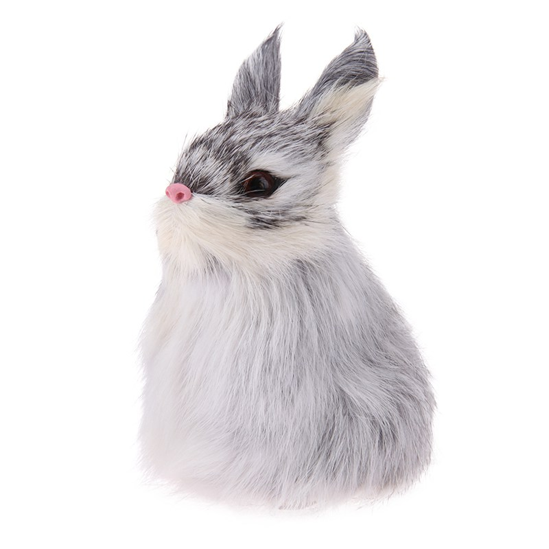Children Simulation Squat Rabbit Cute Easter Bunny Plush Toys Window