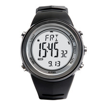 EZON climbing the desk multifunction digital watch waterproof sports activities watch males's black + plus silver watches H009A153