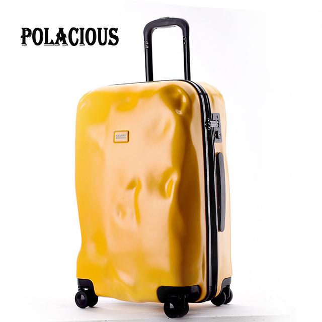 Modo de choque 2016 Nueva moda solid zipper diseño maleta trolley/TSA Bloqueo de Equipaje Maletas/mujeres y Hombres ABS Spinner Equipaje