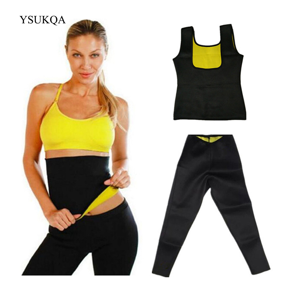 One Set Compression Body Shaper Belt Womens Weight Loss Hot Shapers Waist Trainer Slimming Shirt Hot Thermal Slimming Hot Pants