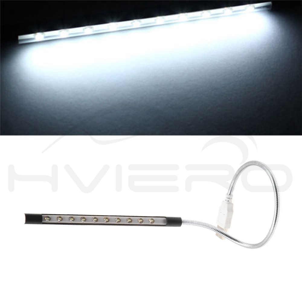 1X Linh Hoạt Sáng Mini 10LED USB Vỏ Kim Loại Để Bàn Đọc Sách gắn trên Ô Tô đèn Máy Tính Đèn cho MÁY TÍNH Xách Tay nắp lưng Đèn
