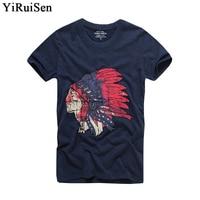 YiRuiSen Brand Top Quality 100 Soft Cotton Print T Shirt Men Short Sleeve Men T Shirt