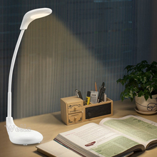 White USB Touch Dimmable LED Desk Lamp Table Light Eye protective Rechargable Reading Table Lamp Lighting 1x ultrathin led dimming touch reading table lamp usb eye protection night light rechargable desk light lamps silver gray gold