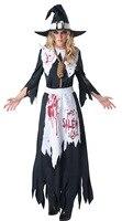 Sexy Schwarz geister kostüm braut Damen halloween scary kostüme für frauen Zombie Corpse Cosplay Erwachsenes Kleid-vereinabnutzung Party