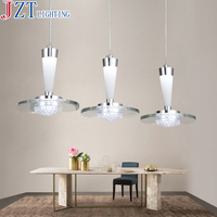 M Best Price 3 Head Led Restaurant Hanging Lamp Dia*35cm H18.5cm Pendant Lights For Dining Room Bright Silver Iron Painted