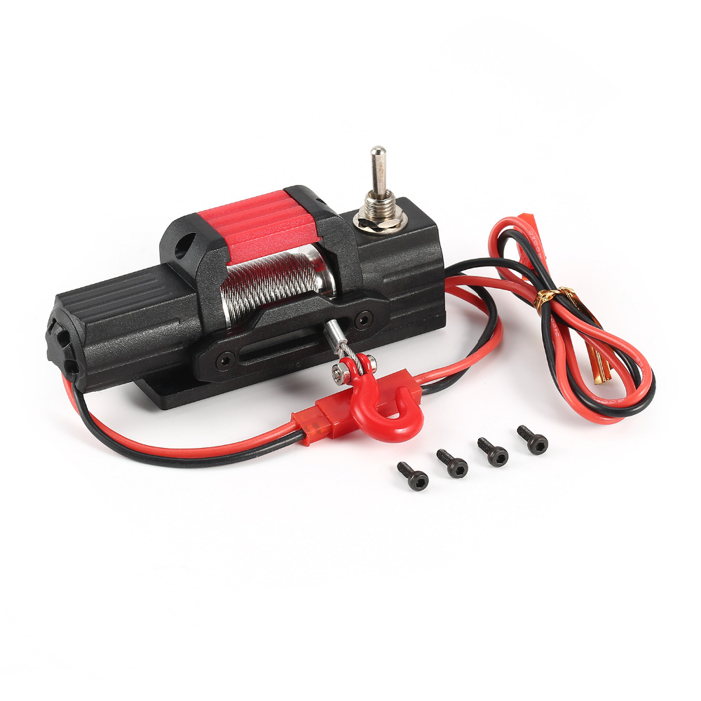 AX-8050 Metal Electric Winch RC Car Parts Accessories For 1/10 Scale Axial 4WD SCX10 Traxxas D90 RC Rock Crawler