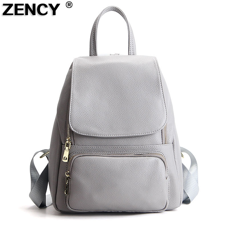 2017 Fashion 100% Genuine Leather Women Girl Female Ladies Backpacks Real Cowhide Designer School Bag Cuero Genuino Mochila zoole brand genuine leather backpacks women school style cowhide travel bag ladies real leather backpack female designer mochila