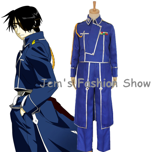 anime fullmetal alchemist cosplay roy mustang costumes uniforme