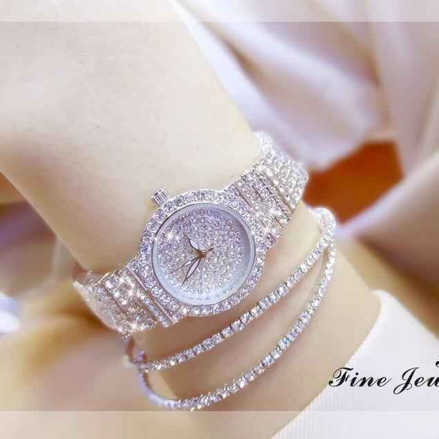 Fashion Casual Women Watch Full Rhinestone Quartz Watches Fashion Lady Diamond Dress Wristwatch Top Quality Girl Clock reloj Hot