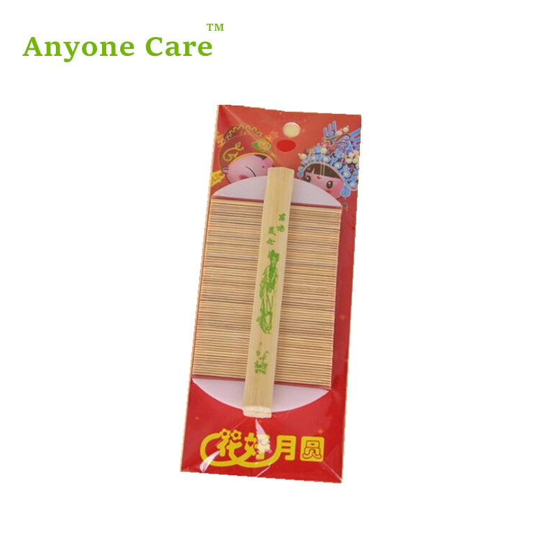Chinese Traditional Bamboo Lice Comb 100% Handmade Dense Tooth Comb Dandruff Removal Itch Scraping head Flea Cootie Combs
