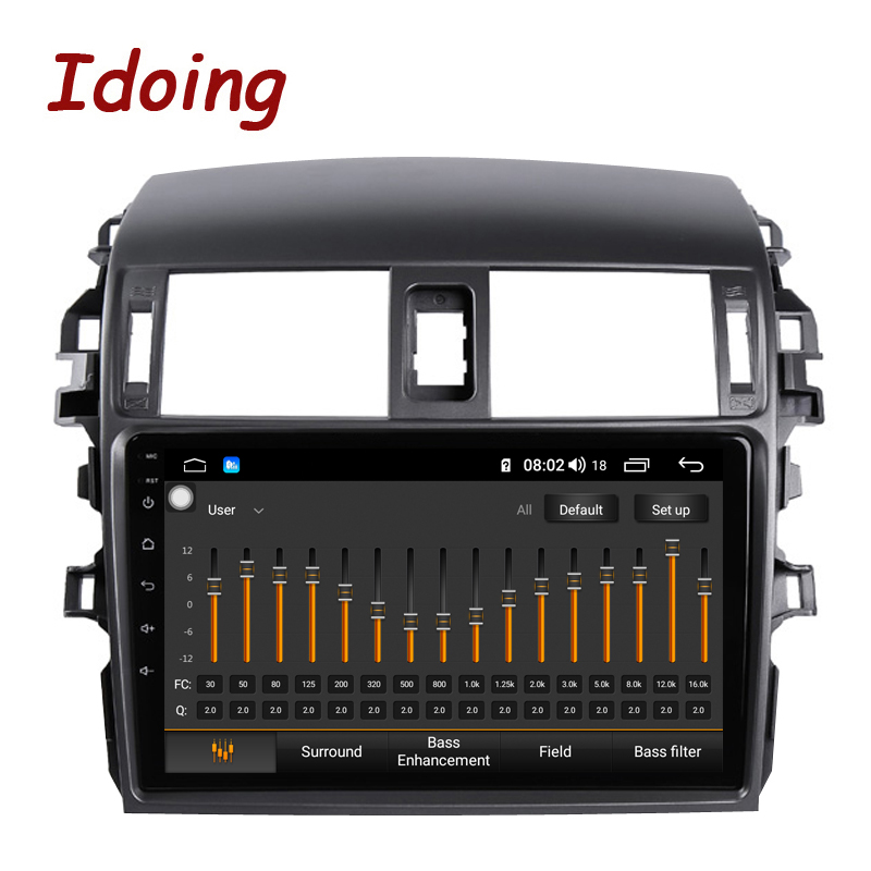"Clearance Idoing 9""Car Multimedia Video Player Navigation GPS Android8.1For Toyota Corolla E150 140 2008-2013 Navigation Radio NO 2DIN DVD 2"