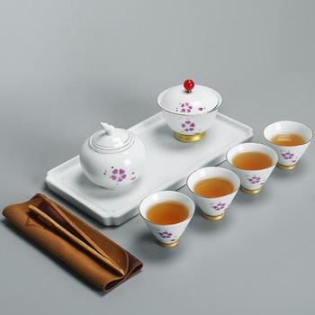 Chinese Kung Fu Teaware Sets Portable Travel Tea Set Ceramic Teapot Teaset Gaiwan Set Tea Cups Of Tea Ceremony Traveller Teaware