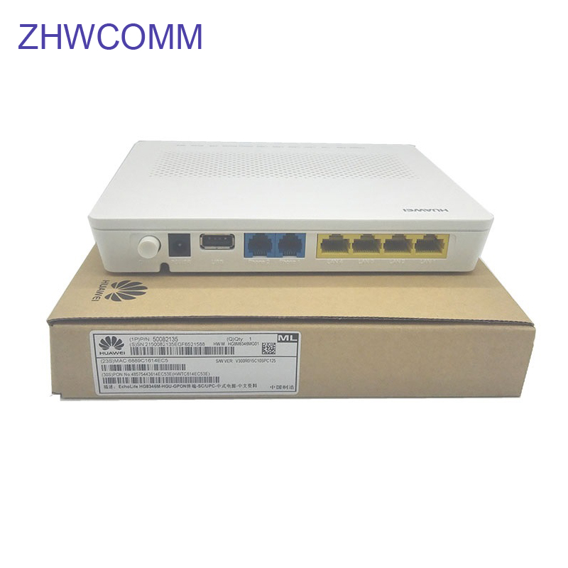 Original Hua wei HG8346R EPON ONU ONT 2 ollas + 4FE + 1USB + wi-fi + F + H.248 y equipamentos de Rede Sem Fio sorbo Router Echolife