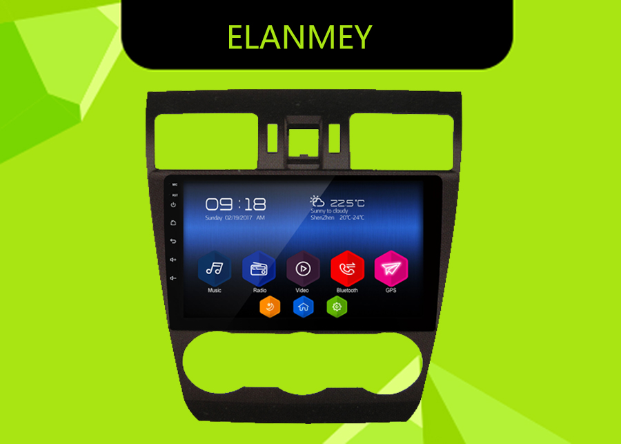 Perfect Elanmey GPS 8-Core Bluetooth stereo android 8.1.0 car multimedia player for Subaru Forester 2015 multimedia radio no DVD Player 0