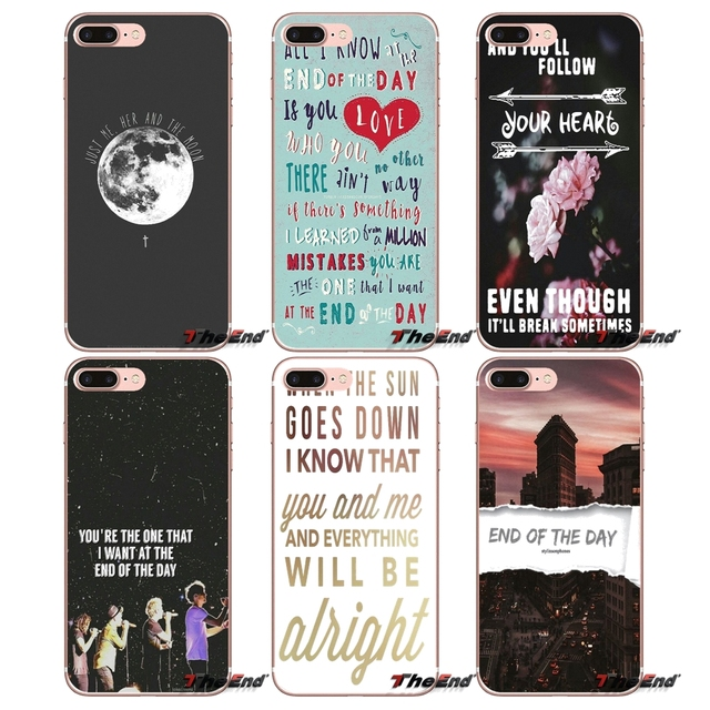 US $0 99 |End of the Day One Direction lyrics Case For HTC One M7 M8 A9 M9  M10 E9 Plus Desire 630 530 626 628 816 820 Motorola G G2 G3-in Half-wrapped