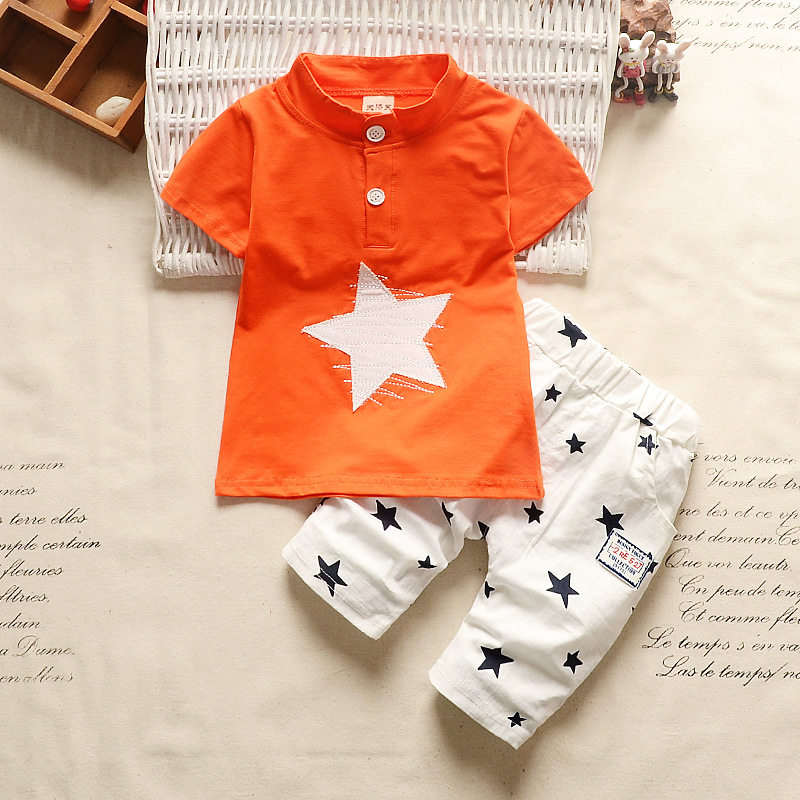 60aece5780a BibiCola Baby Boy Clothes sets Summer Newborn Baby Boys Clothes Cotton  Clothing Suit star pattern Infant sports suit-in Clothing Sets from Mother    Kids on ...