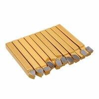 20PCS High Hardness Gold 1 4 Carbide Tip Brazed Tipped Cutter C2 C6 Grade Tool Bit