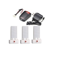 Syma X8SC X8SW X8 PRO RC Quadcopter 3x 7.4V 2000mAh Battery +1 to 3 Balance Charger + US Plug Charger
