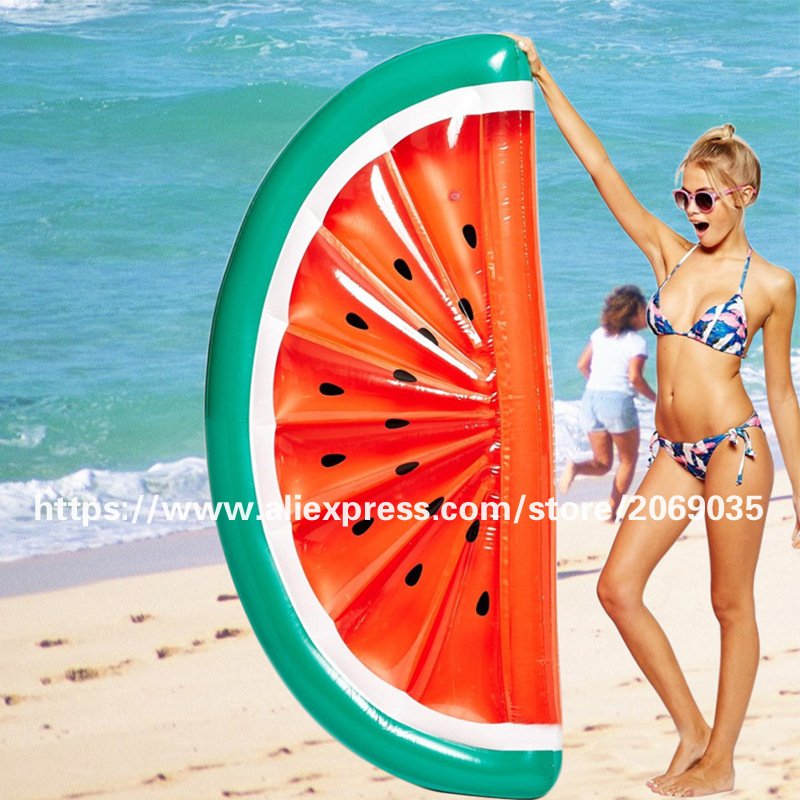180 90cm Inflatable Half Watermelon Floats Swimming Pool Float Beach Water Fun Toy Blowup Fruit Floatie