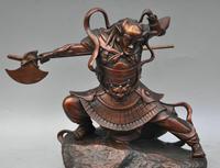 """Darmowe 10 """"Chiny Brąz Mit Charakter Patrona Clairaudient Rzeźba Statua szybka w Posągi i rzeźby od Dom i ogród na"""