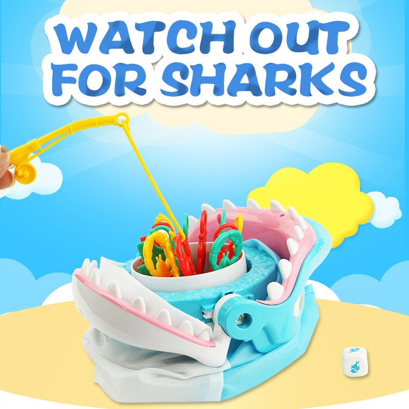 Large Shark Mouth Watch out for Shark Game Funny Novelty Gag Toy for Kids Children