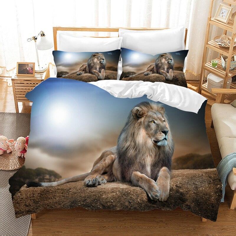 The Lion King 3d Bedding Set Duvet Covers Pillowcases lion Simba Children Room Decor Comforter Bedding Sets Bedclothes Bed Linen in Bedding Sets from Home Garden