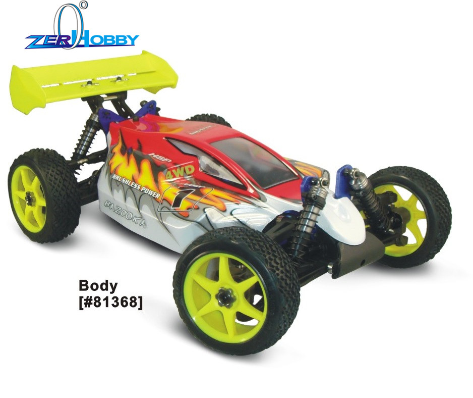 HSP RC CAR 94081E9 BAZOOKA 1/8 BRUSHLESS OFF-ROAD BUGGY 11.1V 4200MAH BATTERY 80A ESC READY TO RUN hsp racing rc car troian pro 94185top 1 16 scale 4wd off road electric powered brushless buggy car ready to run