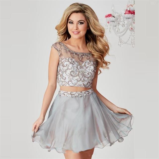 Short Silver Dresses