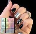 9 Dicas/A Laser Folha de Adesivos de Unhas Prego Vinis Geo Padrão Nail Art Manicure Stencil Oco Nail Art Stickers NF218 #23883