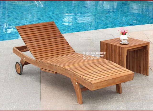 tumbonas en la piscina de madera cama siesta silla de madera al aire libre sillas de - Tumbonas Madera
