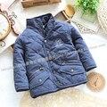 Бесплатная доставка в розницу новый 2015 детские осень зима куртки для мальчиков хлопок-ватник детская верхняя одежда дети ватные куртки