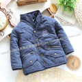 Free shipping Retail new 2015 baby autumn winter jackets for boys cotton padded coat children's outerwear kids wadded jacket