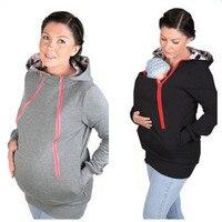 ZITENGHEER Parenting Baby Carrier Hooded Sweatshirt Autumn Mother Kangaroo Hoodie Women Pullovers Clothes For Pregnant Women