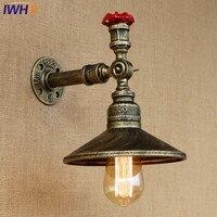 צינור מים תעשייתי בציר ברזל רטרו מנורות קיר קיר עתיקה לופט הנורה אדיסון אור LED עבור מסעדת חדר שינה סלון-במנורות קיר מתוך פנסים ותאורה באתר